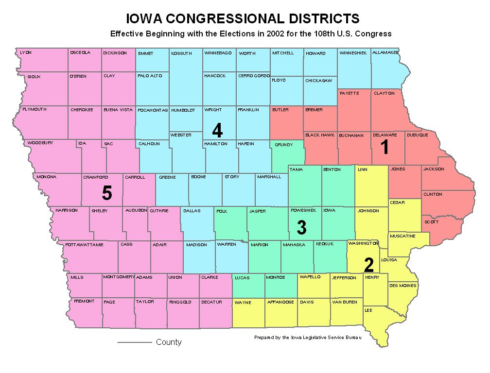 Iowa Congressional District Map Swimnovacom - Iowa on a us map