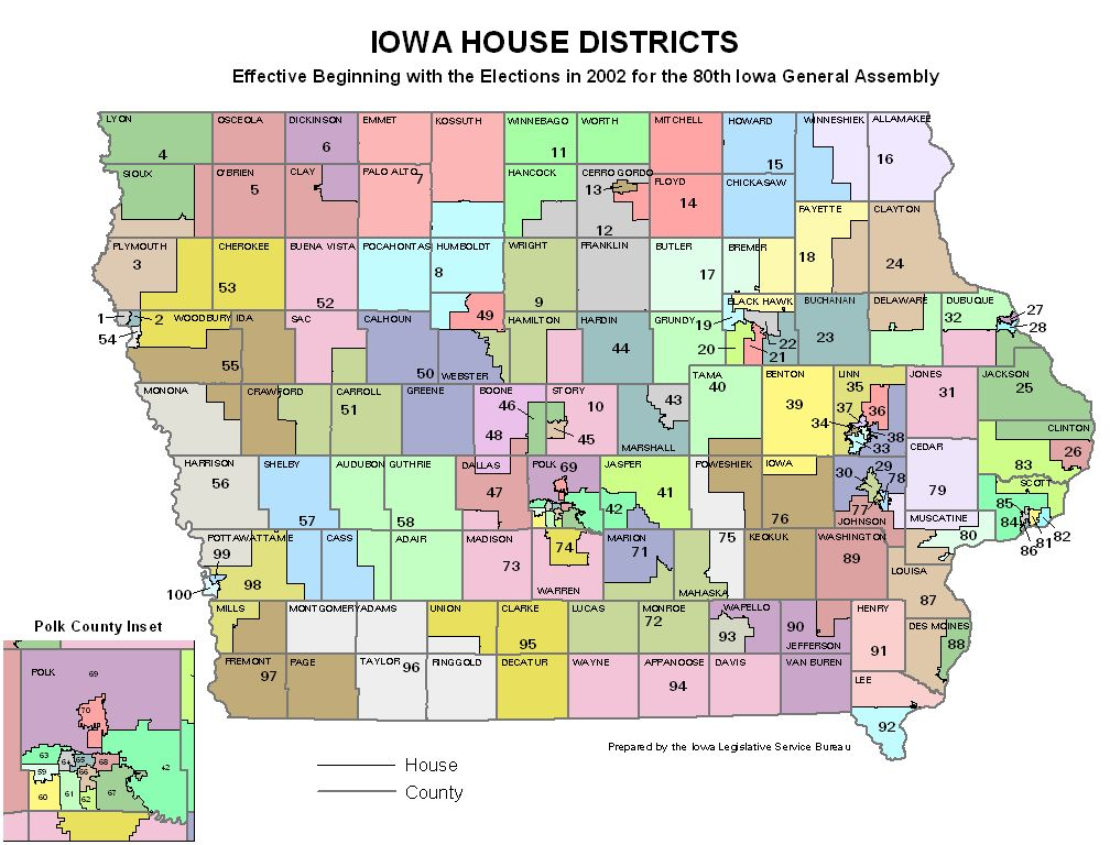 Iowa House District Map Submited Images