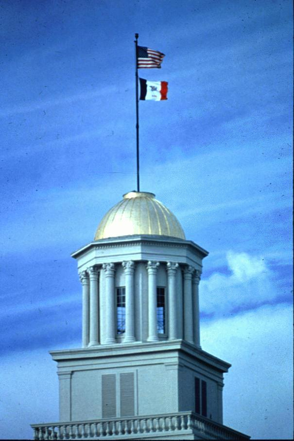 View of flags on top of dome