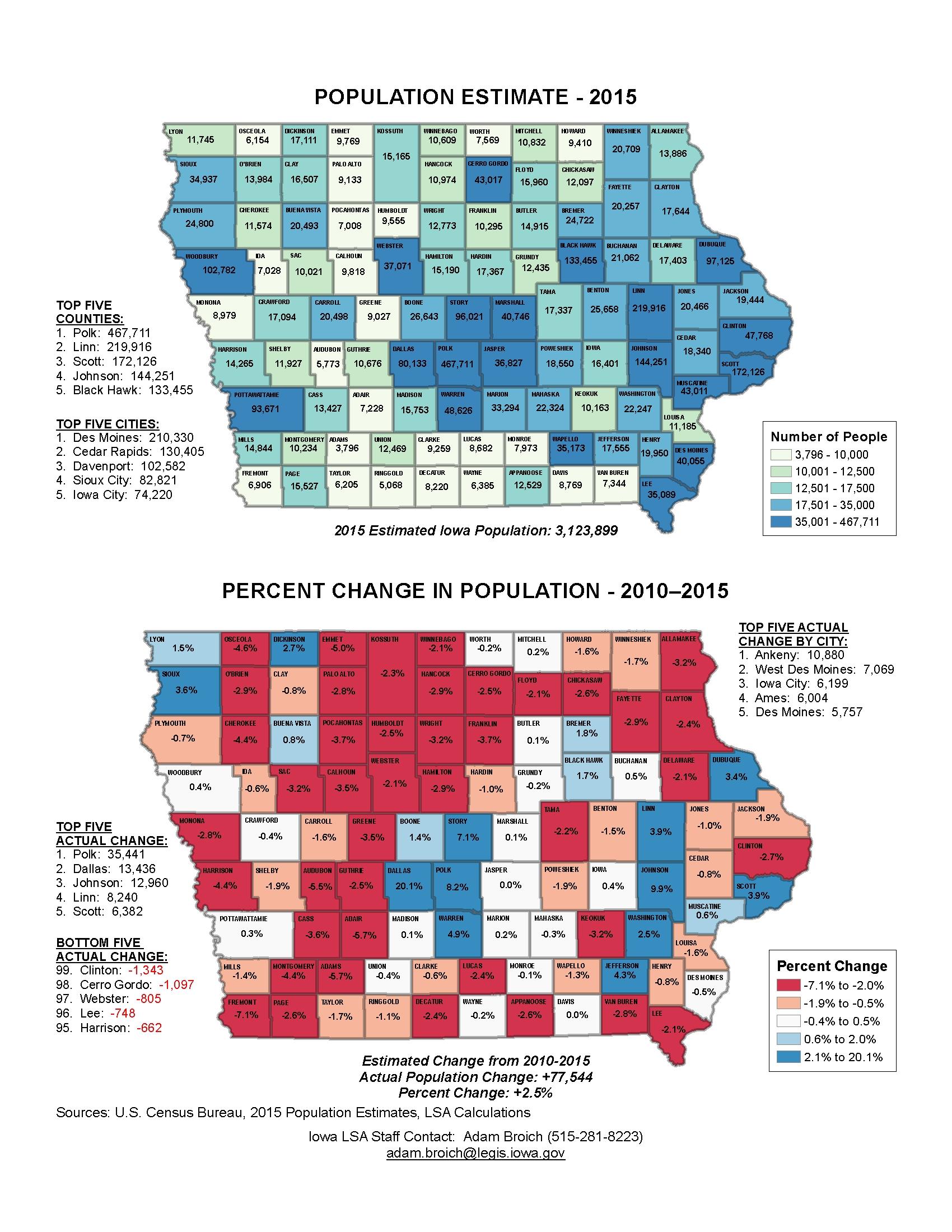 Iowa Legislature Factbook Map Of The Week - Map iowa