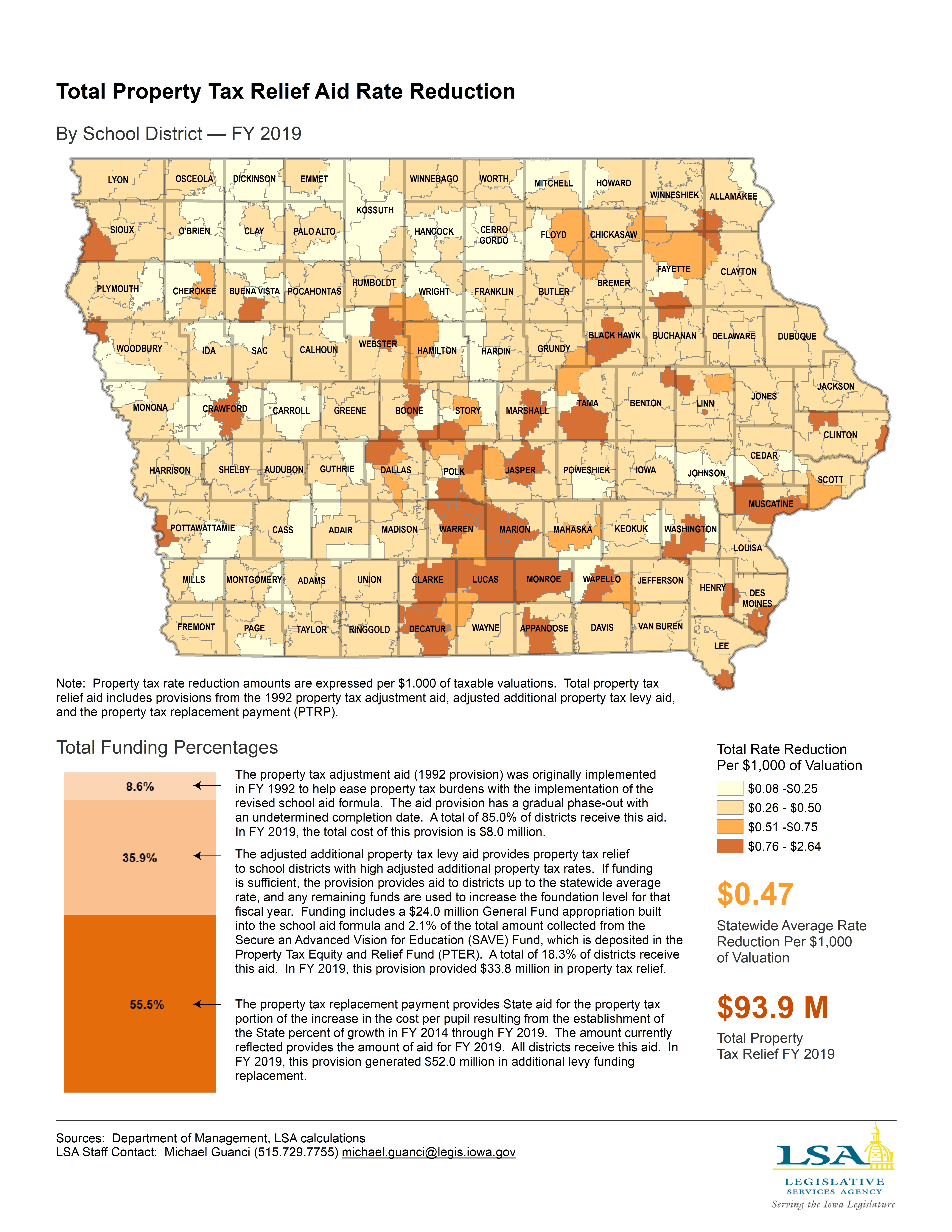 Iowa Legislature - Factbook & Map of the Week